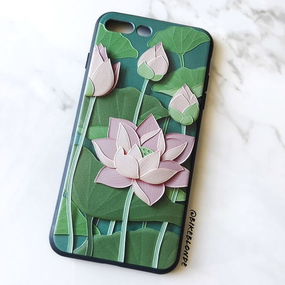 Accessories New Iphone 7 Plus8 Plus Lotus Flower 3d Soft Case